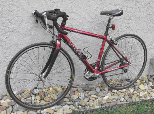 My new road bike, a Trek 1.2.