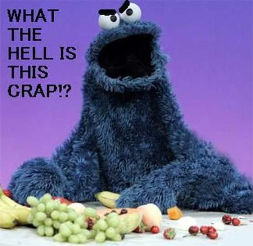 If Cookie Monster went on a diet...