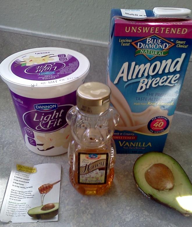 Avo Shake ingredients